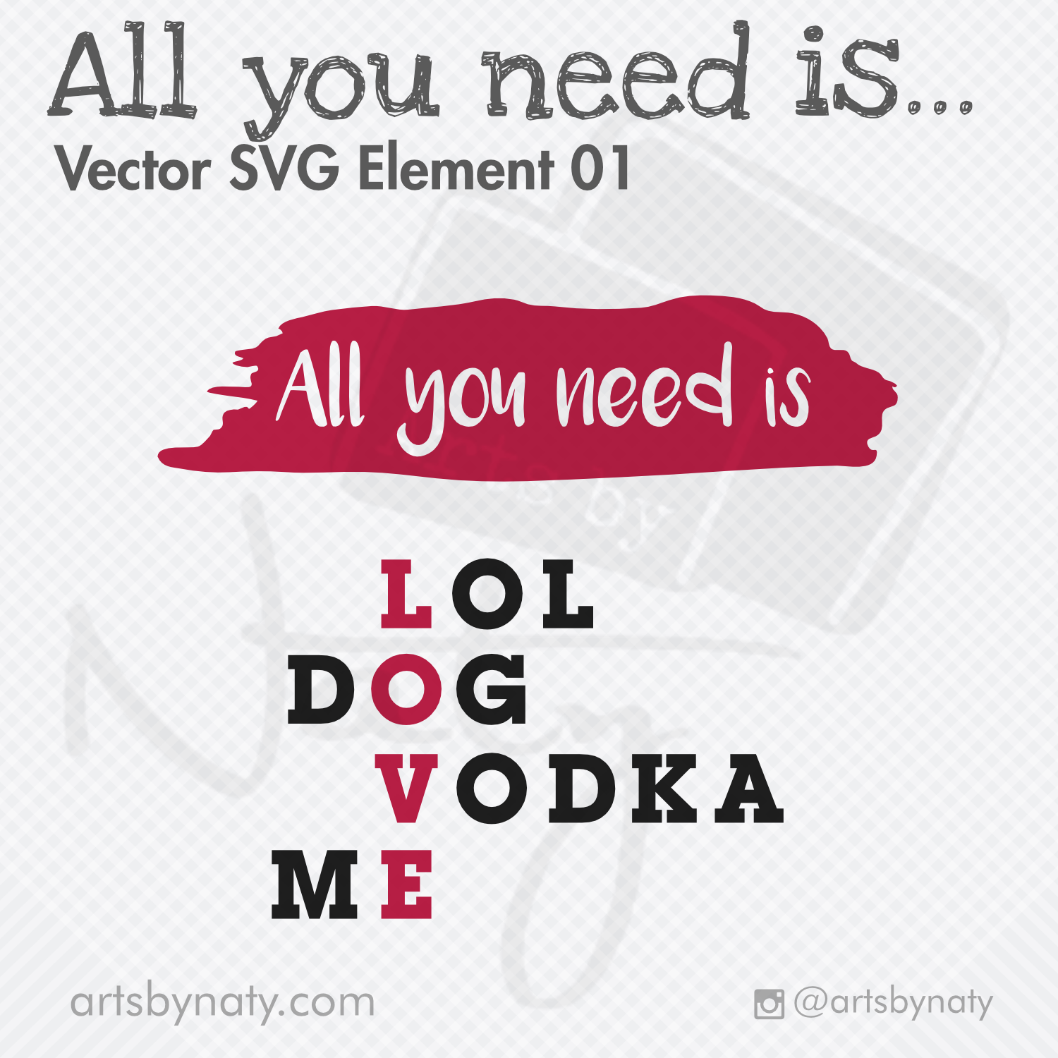 Download All You Need Is Love SVG Funny Quote. - Arts By Naty