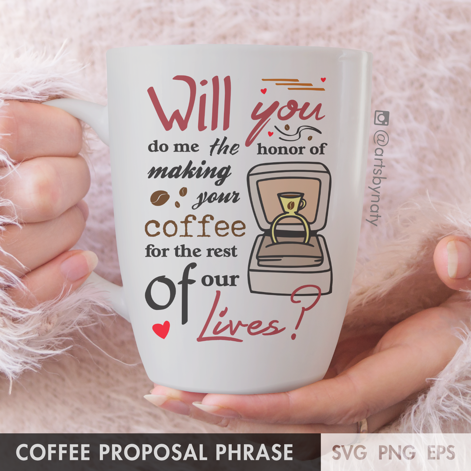 Cute Coffee Proposal Phrase For Coffee Lovers Couples Typography Svg Arts By Naty